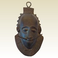 19th Century African Bronze Mask
