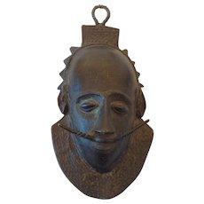 19th Century African Bronze Mask