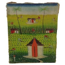 Vintage Haitian Painting. Early 20th century.