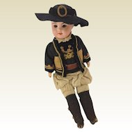 SFBJ 60 French Musketeer Doll 8 1/2 Inches Tall
