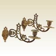 Pair of Antique French Decorative Ormolu Piano / Wall Sconce's. C.1900