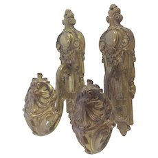 Decorative Pair of French Gilt Metal / Ormolu  Curtain Tie Backs. C.1900