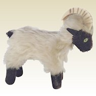 Delightful Old Mohair, Straw Filled, Billy Goat.