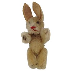 Adorable Vintage Jointed Mohair Rabbit.