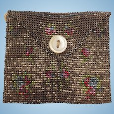 Beautiful Old Small Beaded Purse. Ideal Doll Accessory.