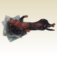 Adorable Miniature Cold Painted Bronze Dachshund Dog. Gesch.