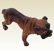Super Little Vintage Cold Painted Bronze Bulldog. Nice Doll House Pet.