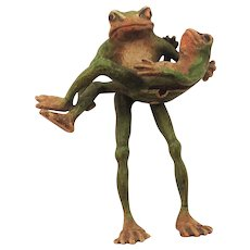 Early 20th Century Austrian Cold Painted Frogs.