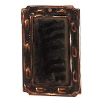 Superb Arts and Crafts Copper Mirror for Doll-house C.1900