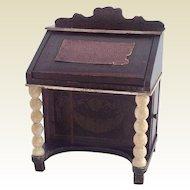 Rare 19th Century Dollhouse Biedermeier Davenport Bureau/Desk