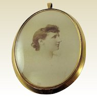 Lovely Old, Antique Photographic Pendant Frame. Early 19th Century.