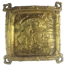 French Antique Gilded Bronze Dish.  19th Century.
