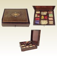 Superb Napoleon III Inlaid Games Compendium Box.
