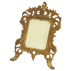 Beautiful Large French Antique Rococo Style Bronze Doré Photograph Frame. C.1900