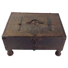 Superb 18th Century Bikaner Jewellery, Trinket or Keepsake Box. Rajasthan.