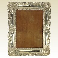 Peruvian Colonial Style Photo Frame - Silver 925 Circa 1940