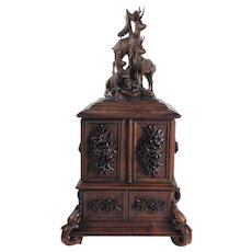 Amazing Large Black Forest Jewel Chest/w. 10 Compartments. C. 1890