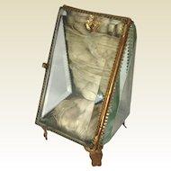 Antique French Glass Casket-Watch Holder/Jewel Box- C.1890