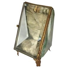Antique French Glass Casket-Watch Holder/Jewel Box- C.1890