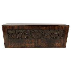 Stunning Carved Olive Wood Stationery Keep Sake Box