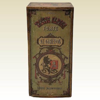 Lithograph Box. Tresse Alpaga Forte au Griffon No. 69. C1900