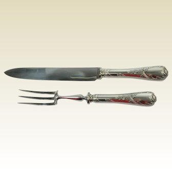 Christofle Marly Pattern Silver Plate  Carving Set