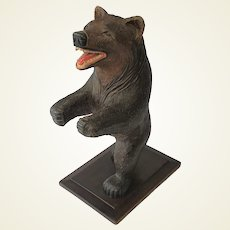 Superb Large Black Forest Bear. C.1900.
