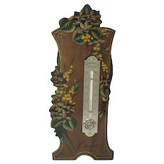 French Hand Painted Desk Thermometer. C.1900. Cannes.