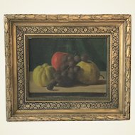19th Century French Still Life Oil on Canvas.