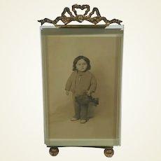 Pretty French Photo Frame/Child Holding Teddy Bear 1910