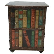 Antique Huntley and Palmers Biscuit Tin Bookstand C.1905.