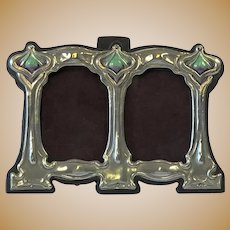 Sterling Silver Mounted Double Photograph Frame, 1915