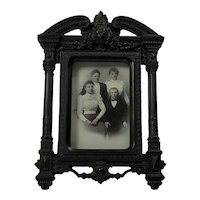 Antique Carved Ebonised Photo Frame. C1890