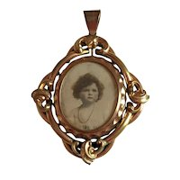 Large Victorian Pinchbeck Swivel Penant/Locket. C1880.