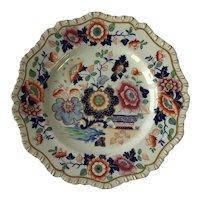 Hicks & Meigh 'Stone China' Dining Plate / Imari Style, c.1820.