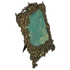 Attractive French Brass Repousse Photo Frame. C.1910