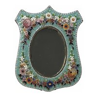 Vintage Micro Mosaic Table Photograph Fame or Mirror
