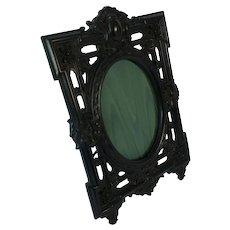 Large Antique carved ebonised photo frame. C1890.