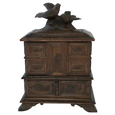 Amazing Black Forest Jewel Chest/w. Five Compartments. C. 1890