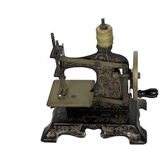 Fabulous Little Toy Sewing Machine. Tin plate,