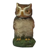 Vintage Paper Mache Owl Candy Box. Germany C.1930.