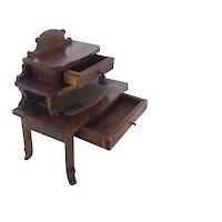 Fabulous 19th Century German Miniature Writing Desk for Dolls House.