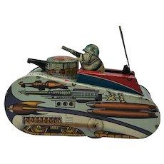 1952 Rex Mars Planet Patrol Sparkling Space Tank