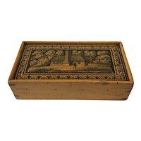 Wonderful Antique Tunbridge Pencil /Sewing or Keepsake Box. C.1890.