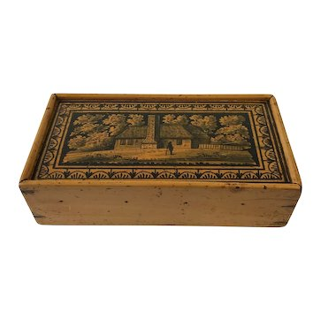 Wonderful Antique Tunbridge Pencil /Sewing or Keepsake Box. C.1890.