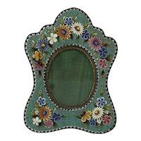Vintage Italian Micro Mosaic Small Photograph Fame C.1910