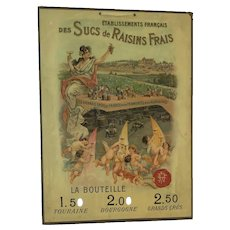 Vintage Advert Des Sucs De Raisins Frais  Fresh Grape Juices • c. 1900