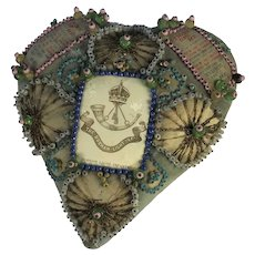 WW1 Sweetheart Cushion, The Durham Light Infantry. THIN K OF ME. C1914