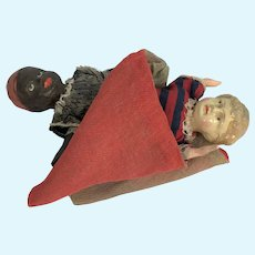 Vintage Topsy Turvy Doll With Composition Head and Shoulders