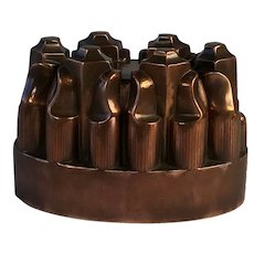 Fabulous Victorian Copper Turret Jelly Mould/Mold. No. 163. Circa 1880